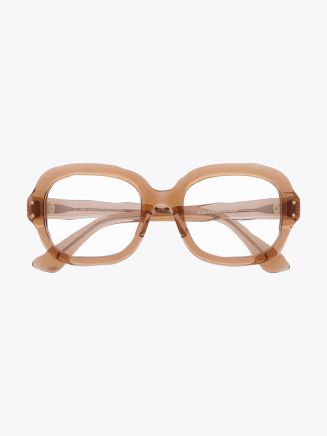 Masahiromaruyama Dessin MM-0002 No.4 Optical Glasses Clear Light Brown Front View