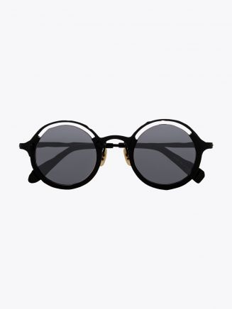 Masahiromaruyama Monocle MM-0053 No.1 Sunglasses Black / Black Front View