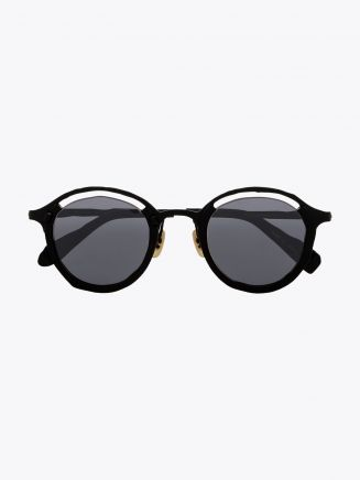Masahiromaruyama Monocle MM-0055 No.1 Sunglasses Black / Black Front View