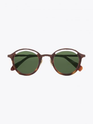 Masahiromaruyama Monocle MM-0055 No.2 Sunglasses Havana / Brown Front View