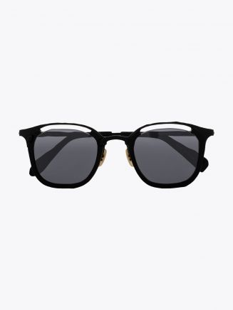Masahiromaruyama Monocle MM-0057 No.1 Sunglasses Black / Black Front View