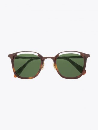 Masahiromaruyama Monocle MM-0057 No.2 Sunglasses Havana / Brown Front View