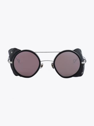 Northern Lights NL 20 Sunglasses Gloss Black / Silver Mirror Aurora Front