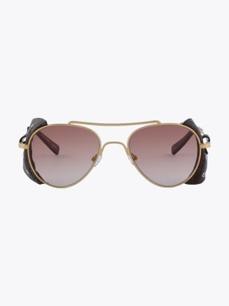 Northern Lights NL 22 Sunglasses Aviator Gold / Brown Gradinet Front