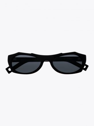 Pawaka Enambelas 16 Cat-Eye Sunglasses Matte Black Front View