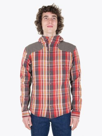Pedaled Christopher Pedalling Hooded Shirt Red Check Full View
