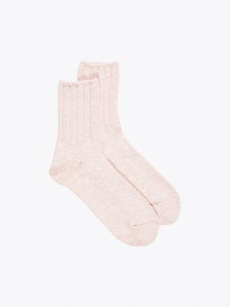 Ro To To Classic Crew Socks Ivory / Yellow 1
