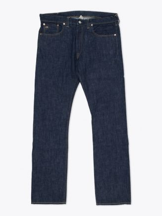 Double RL Slim-Fit Once-Washed Denim Front