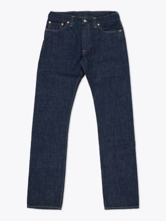 Double RL Low Straight Once-Washed Denim Front