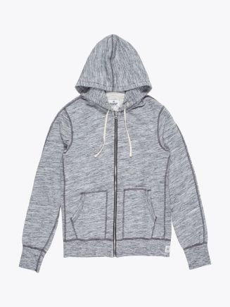 Reigning Champ Full Zip Hoodie Alpine Black Front