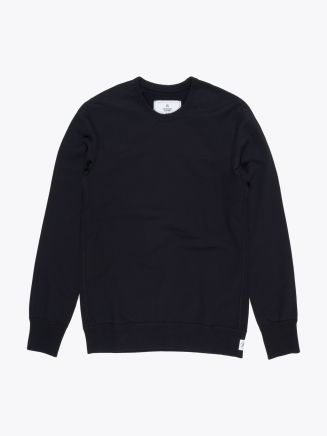 Reigning Champ Loopback Cotton Jersey Sweatshirt Black Front
