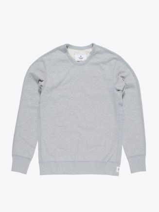 Reigning Champ Loopback Cotton Jersey Sweatshirt Heather Grey Front
