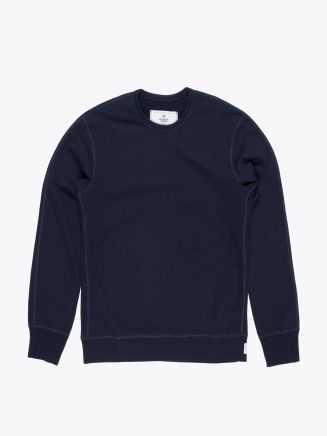 Reigning Champ Loopback Cotton Jersey Sweatshirt Navy Blue Front