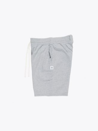 Reigning Champ Loopback Cotton Jersey Sweatshort Heather Grey Side