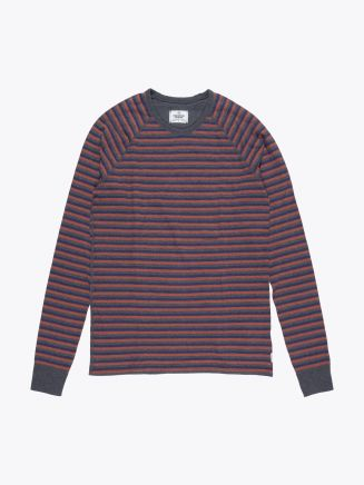 Reigning Champ Long Sleeve Striped Tee Charcoal Front