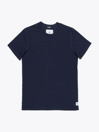 Reigning Champ Ring Spun Cotton Jersey T-shirt Navy Blue Front