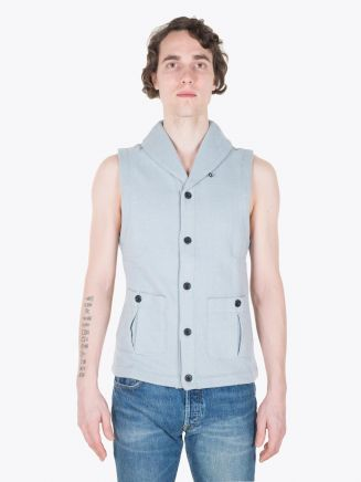 Reigning Champ Shawl Neck Vest Slate Full View