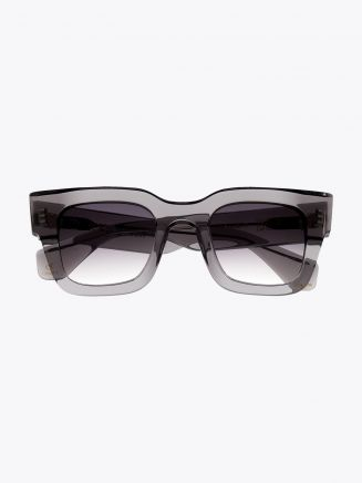Robert La Roche + Christoph Rumpf Midnight Squared Sunglasses Crystal Smoke Front View