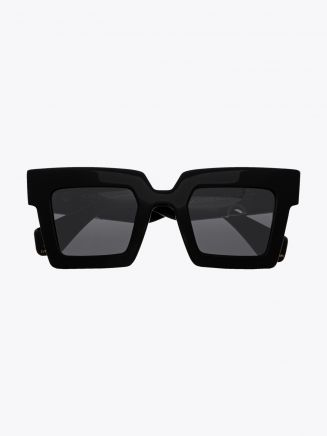 Robert La Roche + Christoph Rumpf Moonstruck Cateye Sunglasses Shiny Black Front View