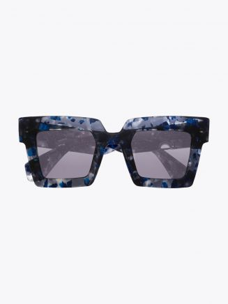 Robert La Roche + Christoph Rumpf Moonstruck Cateye Sunglasses Pearl Blue Marble Front View