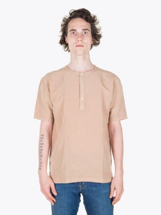 Salvatore Piccolo Henley T-Shirt Brown Full View