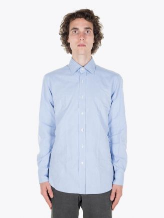 Salvatore Piccolo Oxford Dress Shirt Lt. Blue Right Quarter