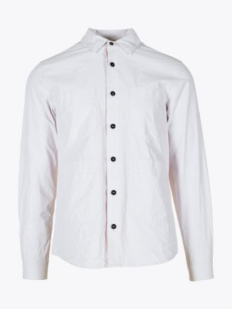 Stone Island 10562 Overshirt Off White 1