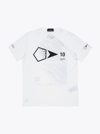 Stone Island 24141 Garment Dyed T-shirt Dust Grey Front