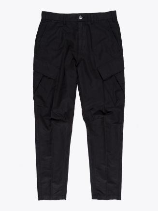 Stone Island Shadow Project 30308 Cotton Linen Canvas Adjustable Cargo Pants Black 1