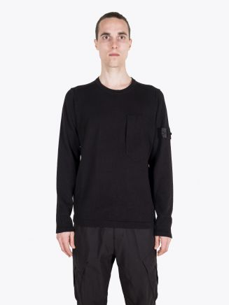 Stone Island Shadow Project 503A2 Mercerised Cotton T-shirt Crewneck Knit Black 1