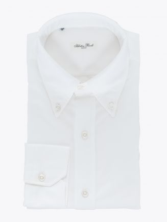 Salvatore Piccolo Slim Fit Button-Down Oxford 120 Shirt White 1