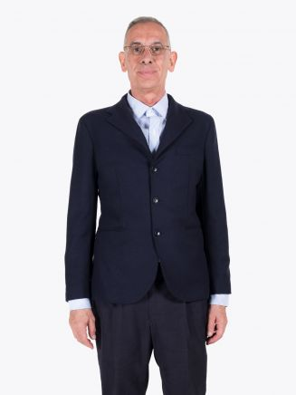 Salvatore Piccolo Slim-Fit Wool Blazer Navy Blue 1