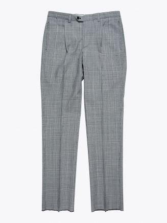 Salvatore Piccolo Slim-Fit Checked Pleated Suit Pants Grey / Black 1