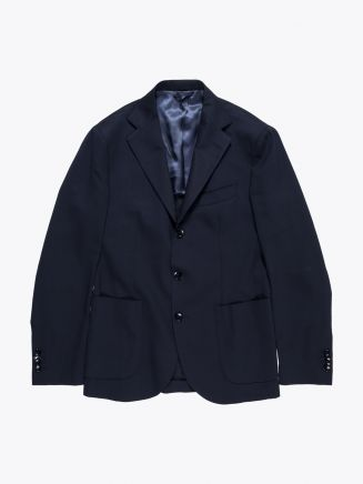 Salvatore Piccolo Unstructured Blazer Navy Blue 1