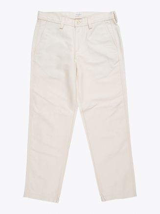 Salvatore Piccolo Tapered Leg Work Pant Ecru 1