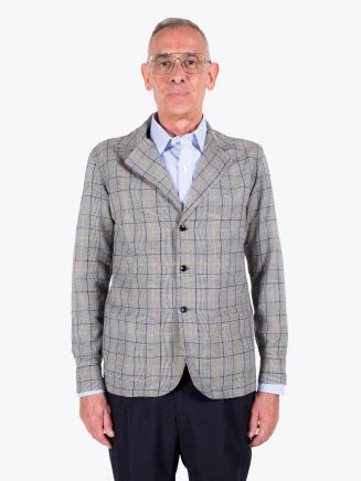 Salvatore Piccolo Shirt-Jacket Prince of Wales Checked White / Black 1