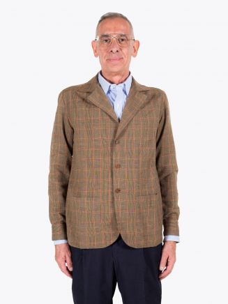 Salvatore Piccolo Shirt-Jacket Prince of Wales Checked Camel / Black 1
