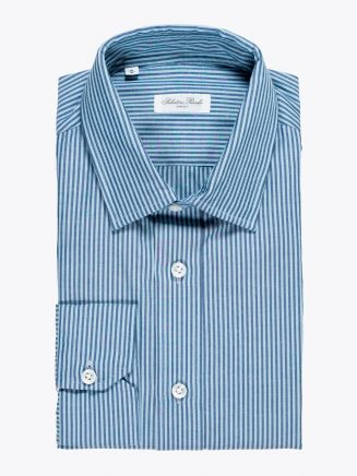 Salvatore Piccolo Regular Fit Shirt Striped Blue 1