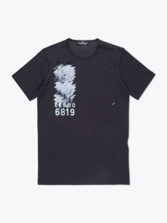 Stone Island Shadow Project 20110 Short Sleeve T-shirt Black Front