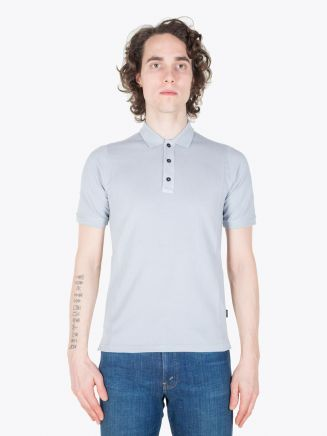 Stone Island Shadow Project 20616 SS Polo Shirt _ Co Piquet Grey Full View
