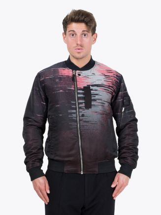 Stone Island Shadow Project 40605 Big Loom Jacquard Bomber Jacket Grey Front