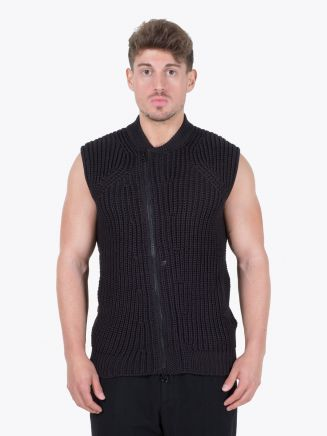 Stone Island Shadow Project 506A4 Asym Vest Black Front