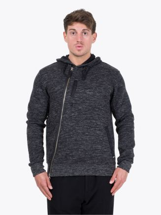 Stone Island Shadow Project 60507 Hooded Sweater Black Mélange Front