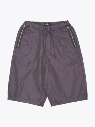 Stone Island Shadow Project L0107 Wide Shorts with Drop Pocket Musk Green Front