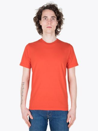 Stone Island Short Sleeve T-Shirt Orange Red Full View