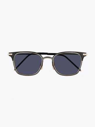 Thom Browne TB-107 Sunglasses Black - 12K Gold Front