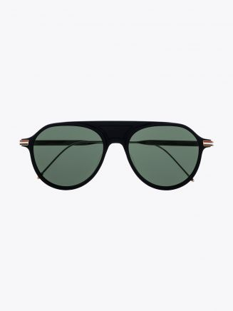 Thom Browne TB-809 Aviator Sunglasses Matte Black Front View