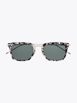 Thom Browne TB-916 Angular Sunglasses Grey Tortoise / Silver Front View