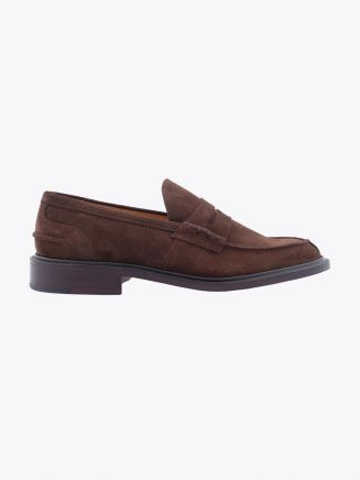 Tricker's James Penny Loafer Repello Suede Chocolate Profile
