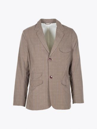 Universal Works Hyde Jacket Pow Check Brown Front